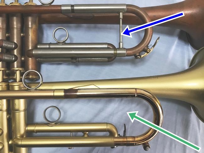 トランペット楽器本体に抵抗を付ける方法
