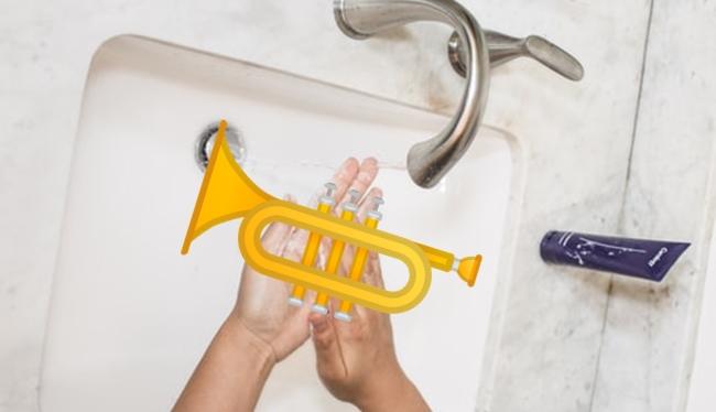 トランペット・マウスピース洗い方に注意
