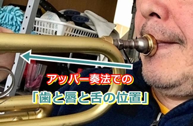 以前のアッパー奏法での「歯と唇と舌の位置」